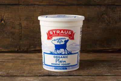 Thumb 400 straus creamery organic plain nonfat yogurt 32 oz